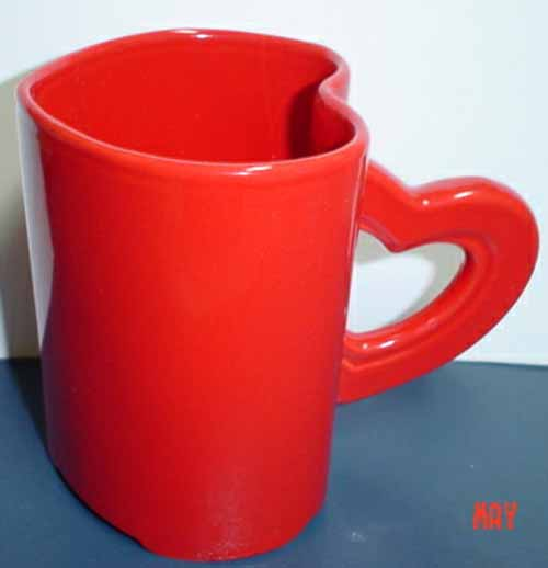Red Heart Shaped Mugs