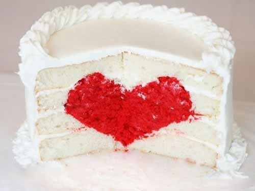 Valentine Homemade Heart Cake