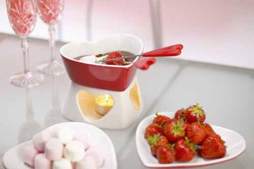 Kitchen Craft Heart Shaped Chocolate Fondue Gift Set