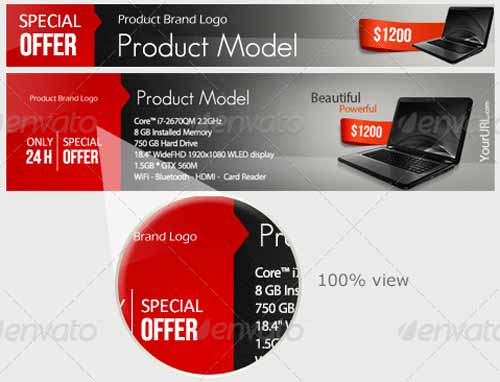 Free and Premium Web Banner Template Collection (PSD)