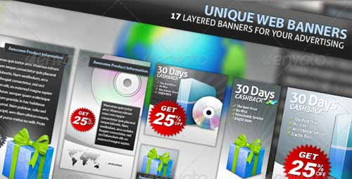 Unique Web Marketing Banner Set