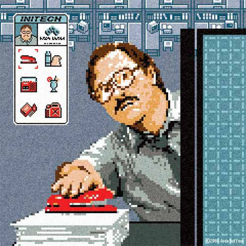 Office Stapler Pixel Art