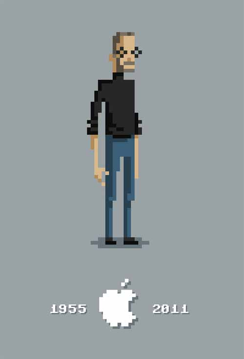 Steve Jobs Pixel Artwork