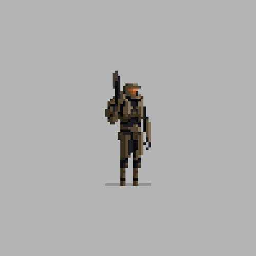 Master Chief 8-Bit Art