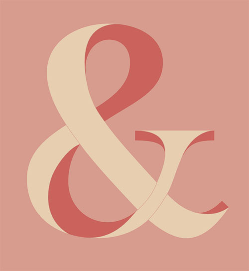 Strawberries & Cream Ampersand