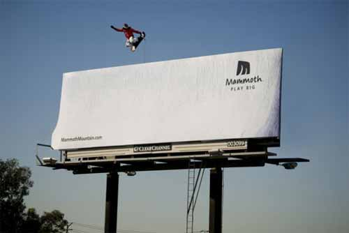 Mammoth Billboard Advertisement