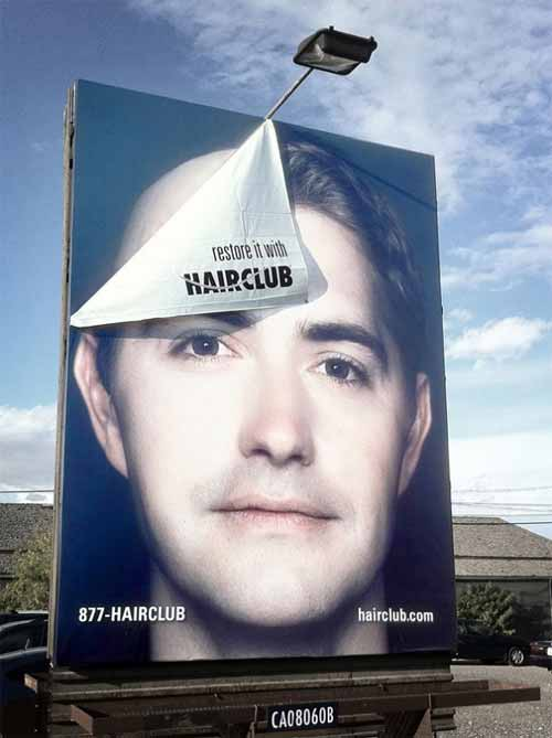 Hair Club Billboard Ad
