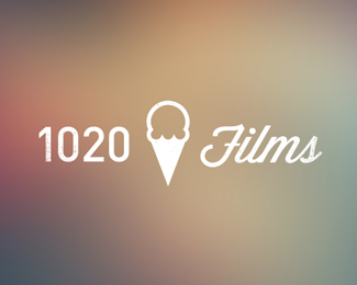 Blurred Background in Logo Design: 1020Films
