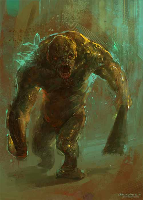 Strong Zombie Concept art