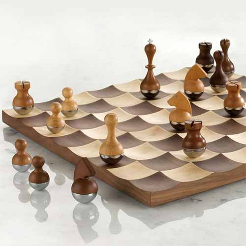 Wobble Wood Chess Set Designs