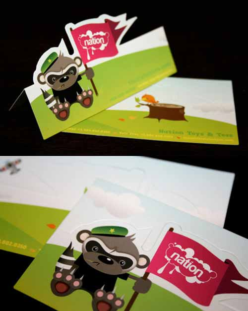 Nation Toys Green Business Cards