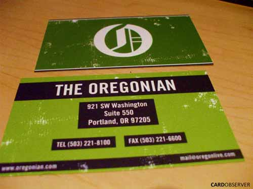Oregonian Business Card