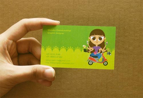 Namecard Green Business Card