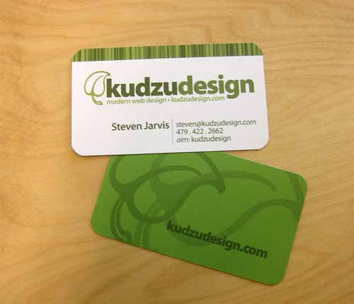 Green Business Card: Kudzu Design