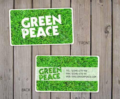 Green Peace Business Card