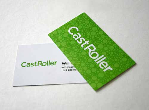 CastRoller Green Business Cards