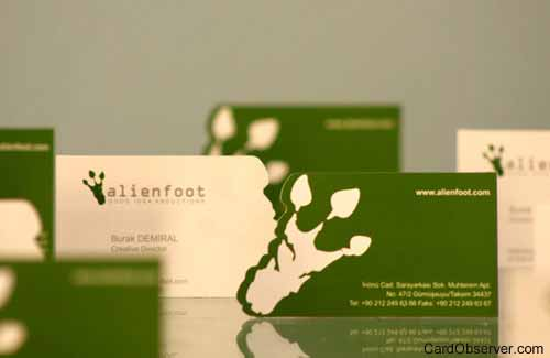 Alienfoot Business Card