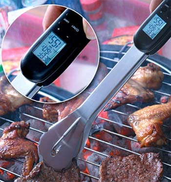 Admetior Digital BBQ Tongs and Thermometer