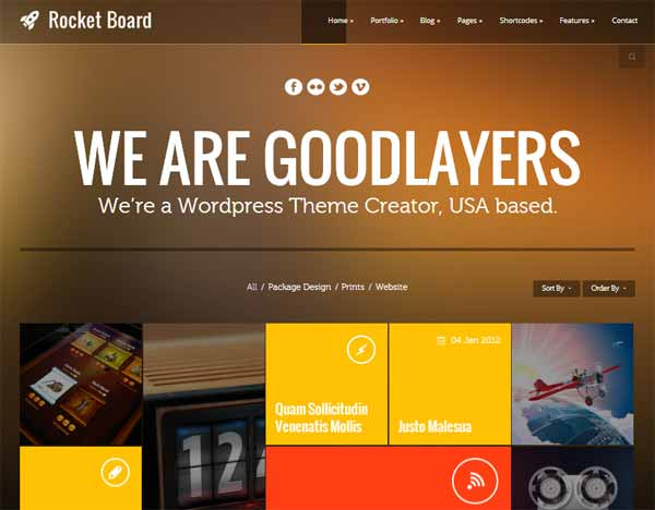 Rocket Board - Metro WordPress Themes