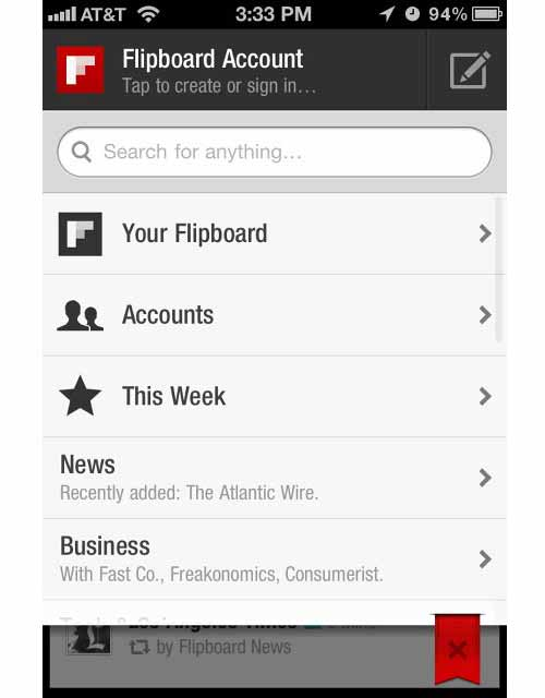 Mobile UI: Flipboard