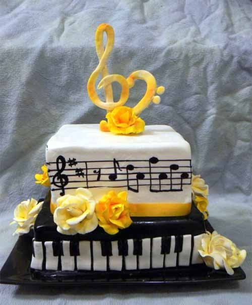 Cake Design Musical Notes : 20 Mouthwatering Ideas for Music Cake Designs