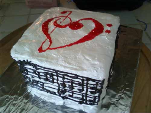 Happy Birthday Music Cake