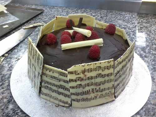 Music Note Chocolate Cake