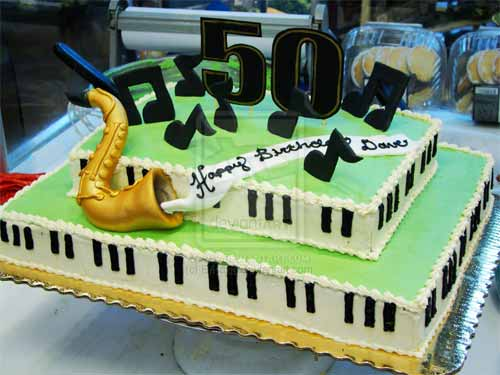Saxophone and Piano Cake