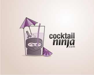 Cocktail Ninja Logo Design