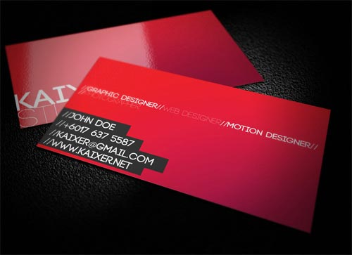 Minimal Style Business Card