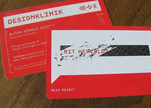 DesignKlinik Red Business Card Designs