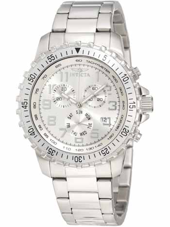 Chronograph Stainless Steel Silver Dial Watch