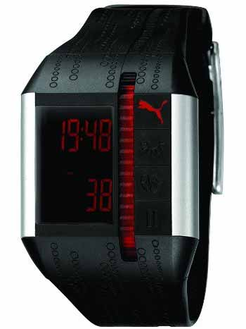 Black and Silver Heart Rate Monitor Watch