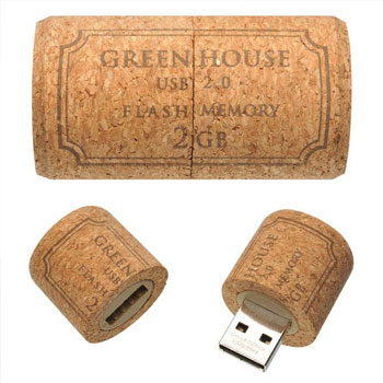 8GB Cork USB Drive - Perfect Gift for Wine Lovers