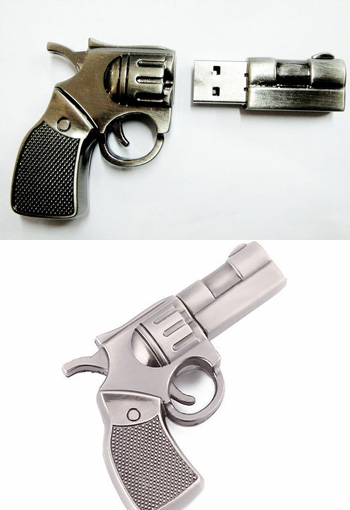 High Quality 8 GB Metal Gun Shape USB Flash drive