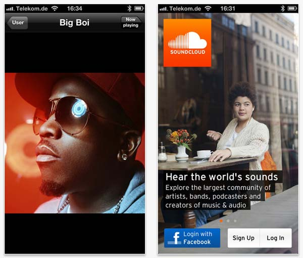 Visual Hierarchy in Responsive Era: SoundCloud