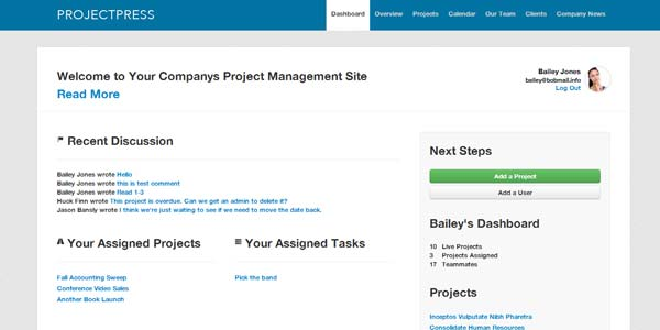 ProjectPress - Project Management for WordPress
