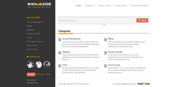 iKnowledge - Knowledge Base / Wiki WordPress Theme