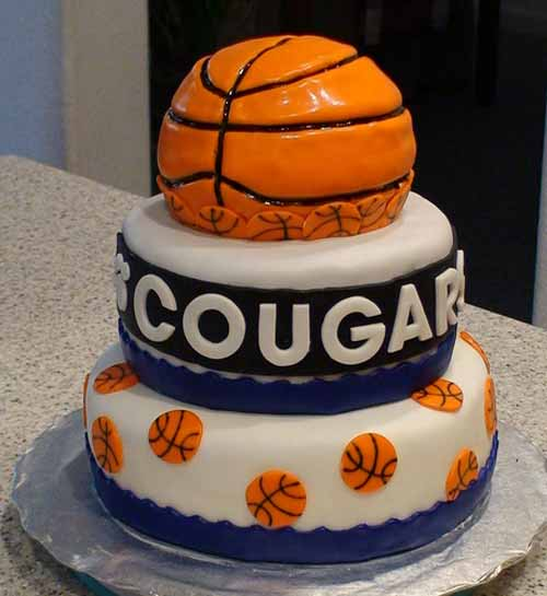 Cougar Basketball Cake