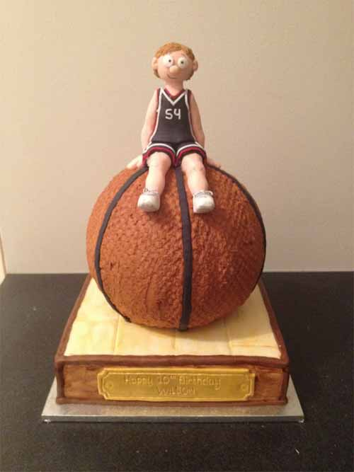 Basketball Player Cake