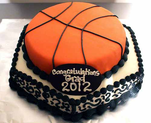 2 Tiered Fondant Basketball Cake