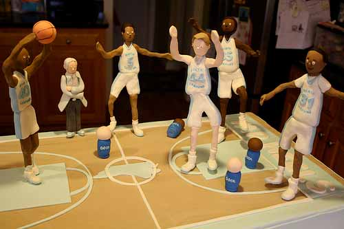 North Carolina Tar Heels Basketball Cake 2012