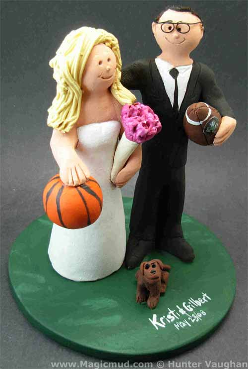 Basketball Bride Wedding Cake Topper