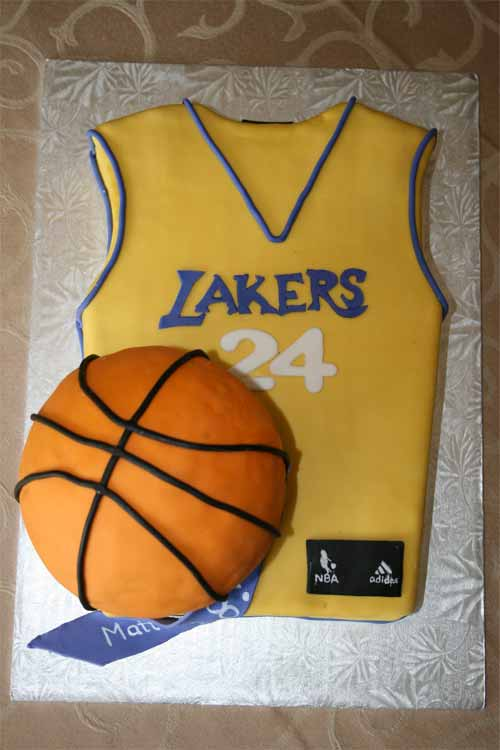 Basketball Jersey Cake: Lakers