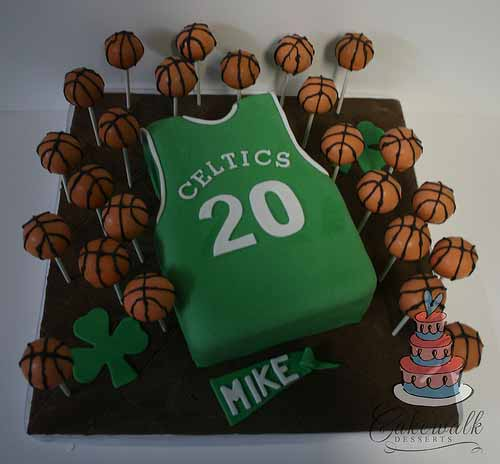 Celtics Cake and Cake Pops