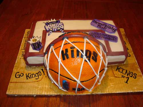 Sacramento Kings Basketball Cake