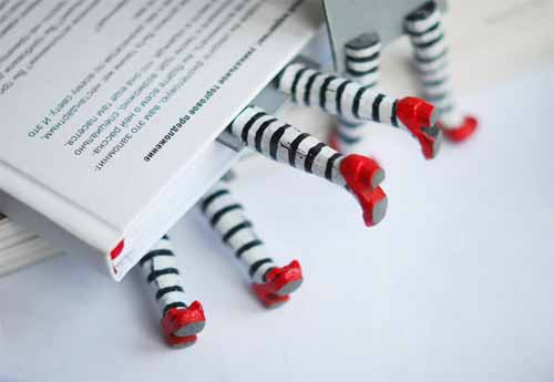 Wicked Witch Bookmarks by Woodland Honey