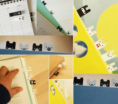 Ninja Bunny/Bear Bookmark Stickies