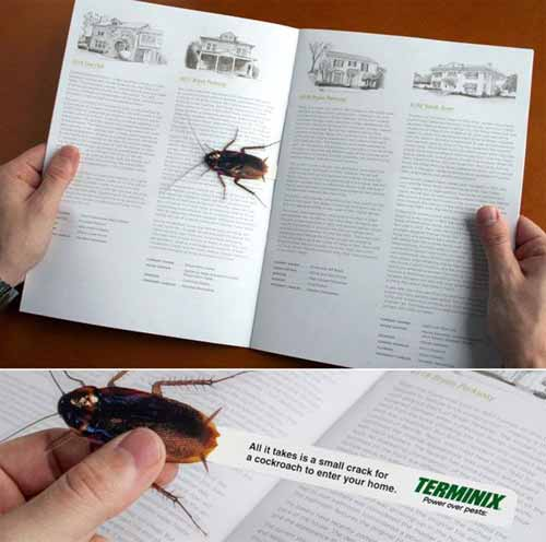 Terminix Advertisement Bookmark Designs
