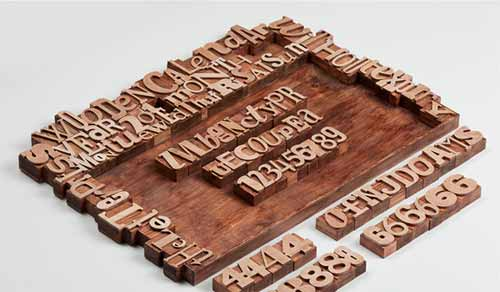 Calendar Design Ideas: Letterpress Calendar